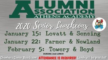 2020 senior luncheons