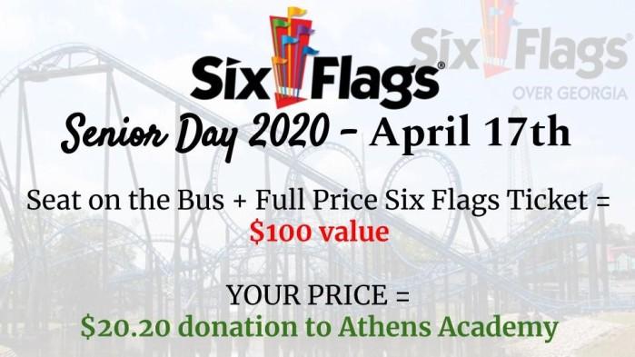 senior day 2020 six flags