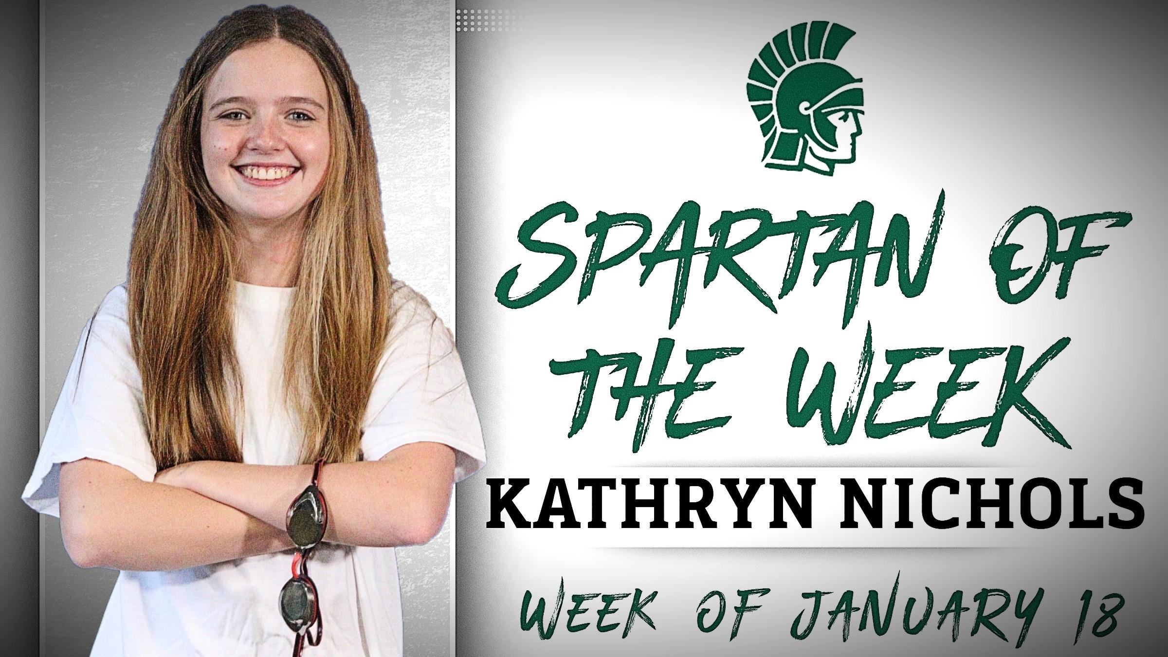 Spartan of the Week - Kathryn Nichols